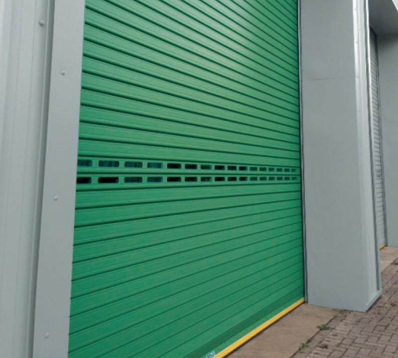 Green Roller Doors